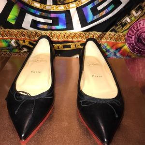 New  Authentic Christian Louboutin  bow tie flats